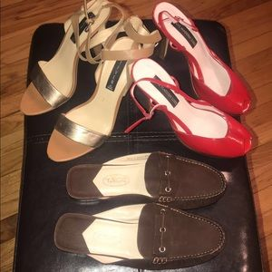Bundle of Steve Madden heels/  Talbots mule shoes